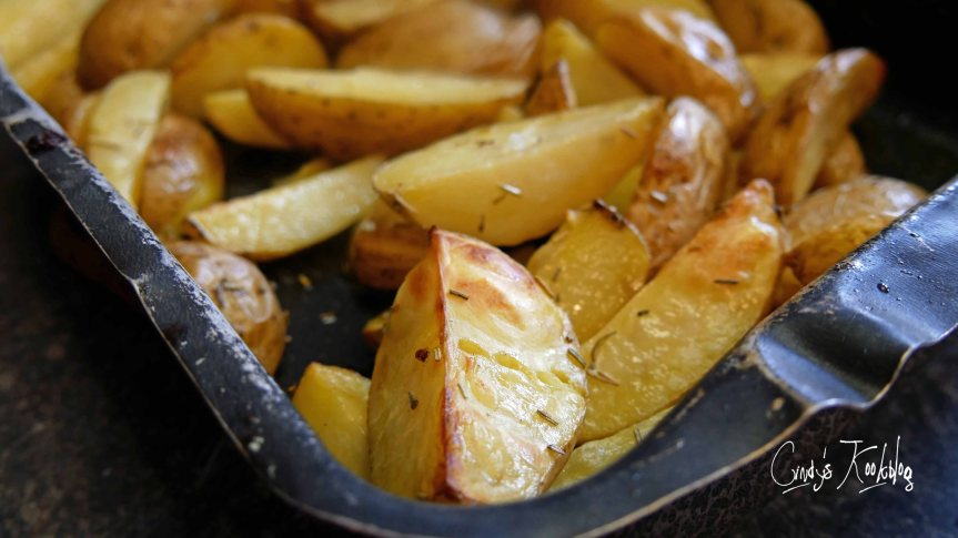 Aardappel partjes in de oven(wedges)